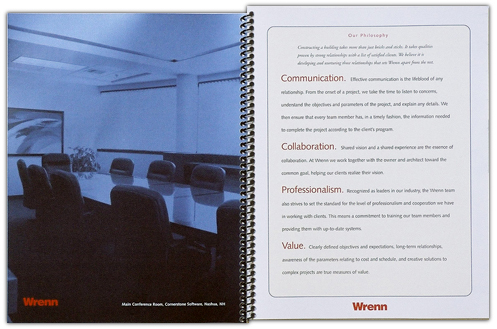 Wrenn Associates - company brochure design by Al Belote